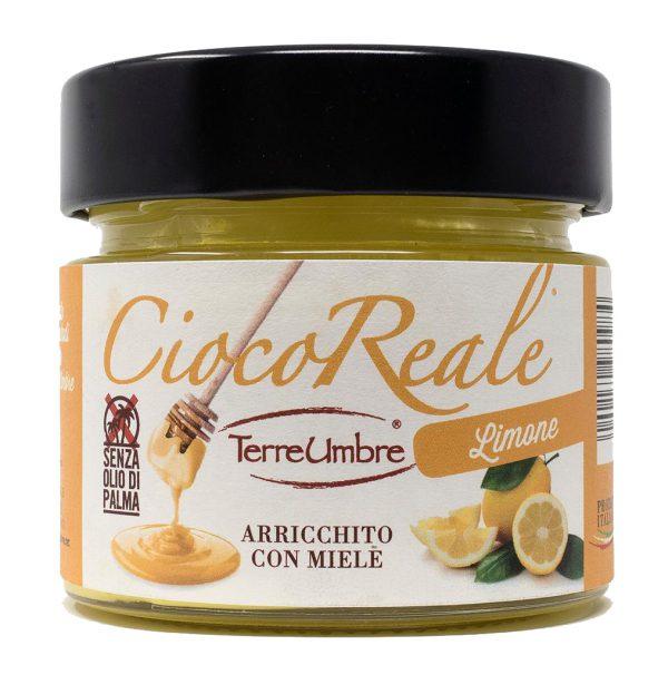 La bontà delle nocciole italiane, il piacere del cioccolato e l'energia del miele finalmente legate in una crema spalmabile al gusto di limone.  Buono con il pane o per farciture di dolci.