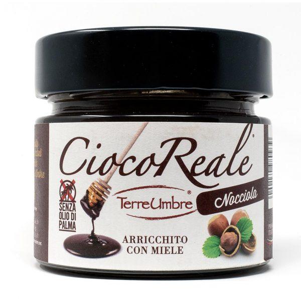 Crema spalmabile di cioccolato con nocciola e miele